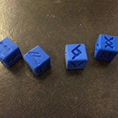 Dice Nordic Rune 6 sided