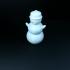 dancing snowman print image
