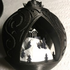 Picture of print of XMAS Scene Ornament - NO SUPPORTS!