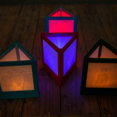 triangular lithophane lamp