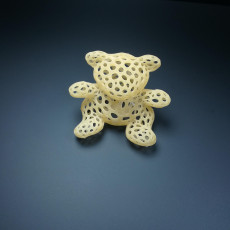 Picture of print of 3D printed bear