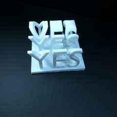 Picture of print of yes\no plaque