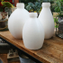 "Three Vases ""milk bottle"" two image"