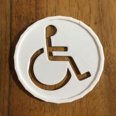 Picture of print of simbolo de discapacitado
