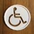 simbolo de discapacitado print image