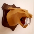 Tiger head lowpoly image