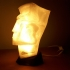 Man head table lamp image