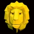 lion head lowpoly image