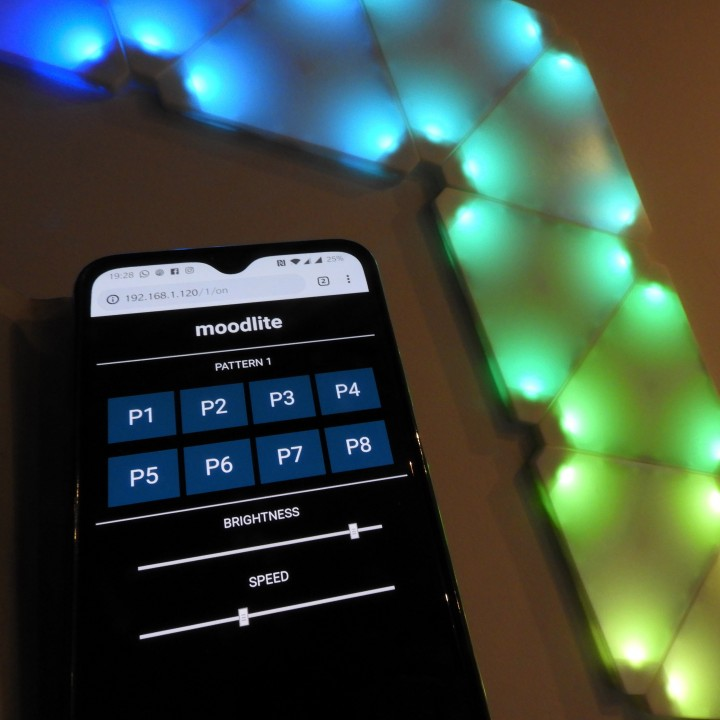 moodlite LED wall tiles with web app :-)