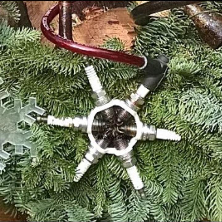 Spark plug snowflake