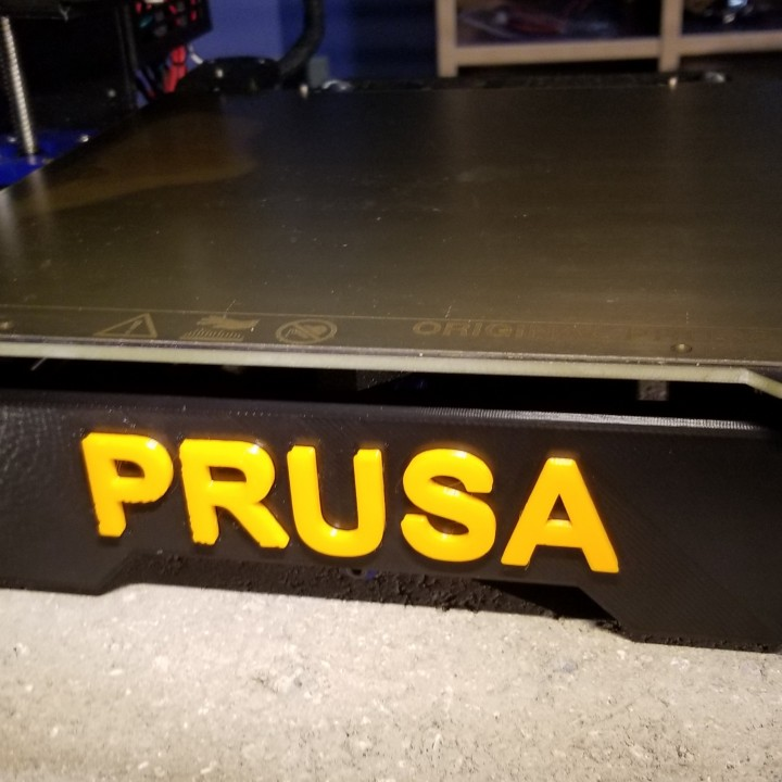 Prusa MK3 front plate cover