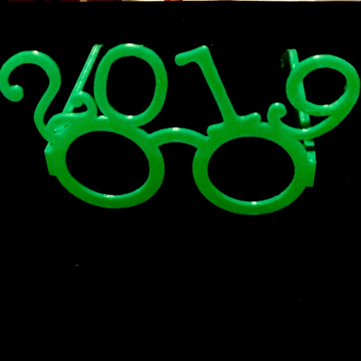 2019 Foldable New Year's Glasses