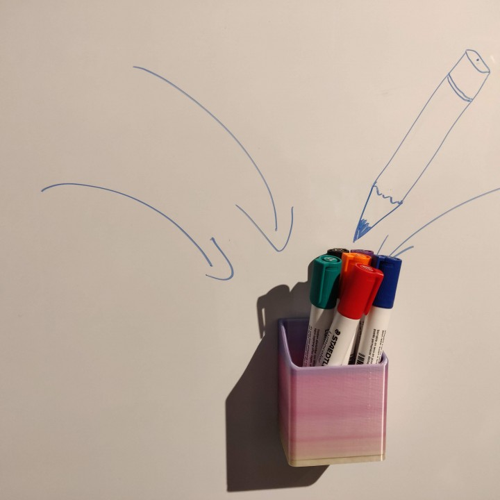 image about Printable Whiteboard named 3D Printable Whiteboard pen holder via Jens Dittmar