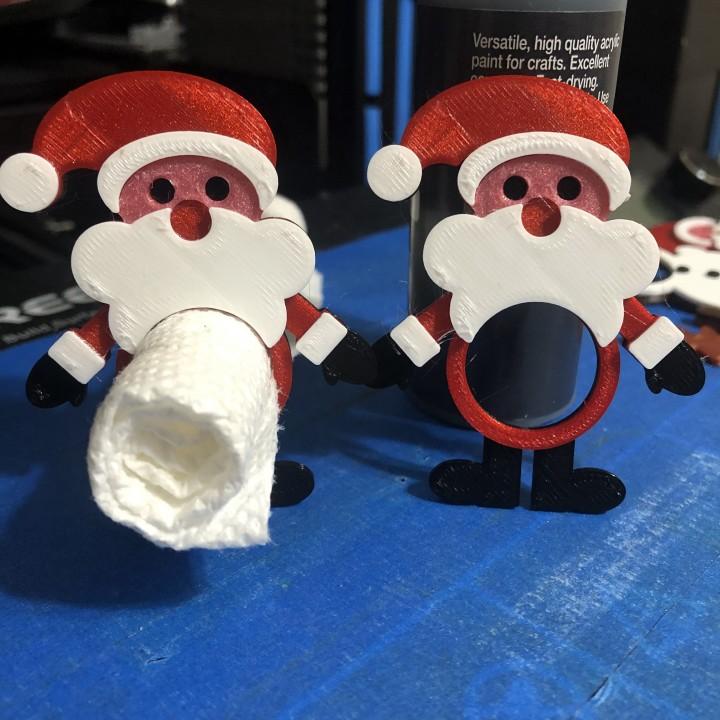 Santa Paper Napkin Holder