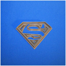 Picture of print of superman logo cookie cutter