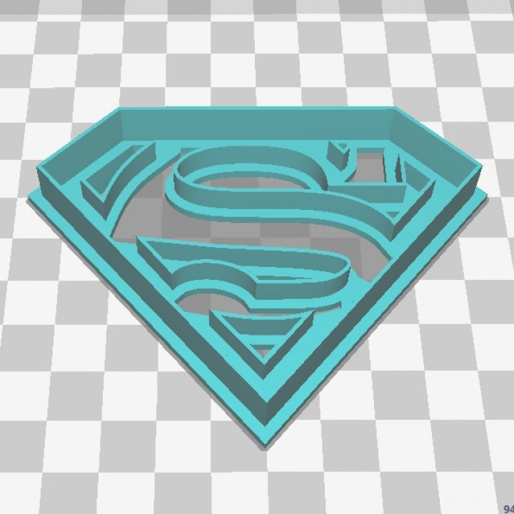 superman logo cookie cutter