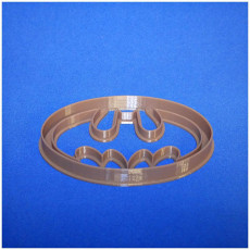 Picture of print of Batman logo cookie cutter