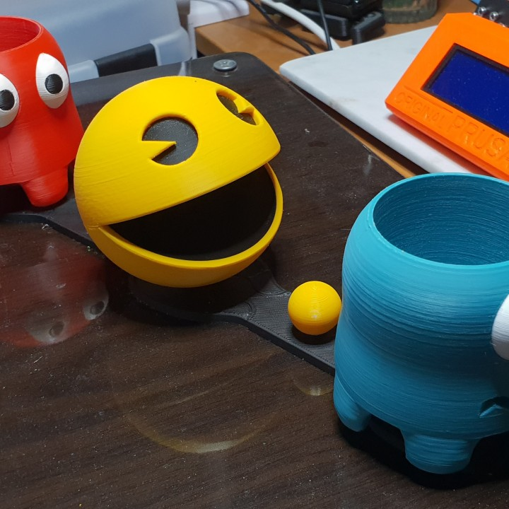 picture relating to Pac Man Printable known as 3D Printable Pac-Guy Ghosts planters (multicolor) via