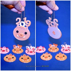 2019 HAPPY CHINESE NEW YEAR-YEAR OF The Pig Keychain