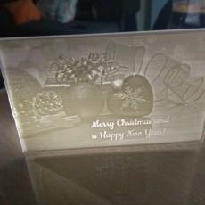A Merry Christmas Litho Card!