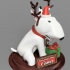 Santa Claus's helper : Comet - bull terrier- dog - Christmas(100% Fusion360) * Update : inside version without name tag image