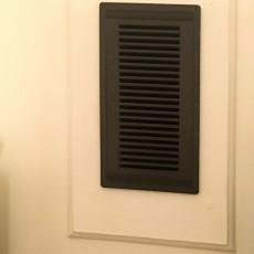 Ventilation grid with frame