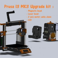 3D Printable Prusa i3 MK3 CNC/Plotter Multi-tool Kit by Francesco De