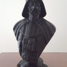 Picture of print of Darth Vader bust