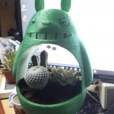 Picture of print of Totoro planter - Small Totoro vase