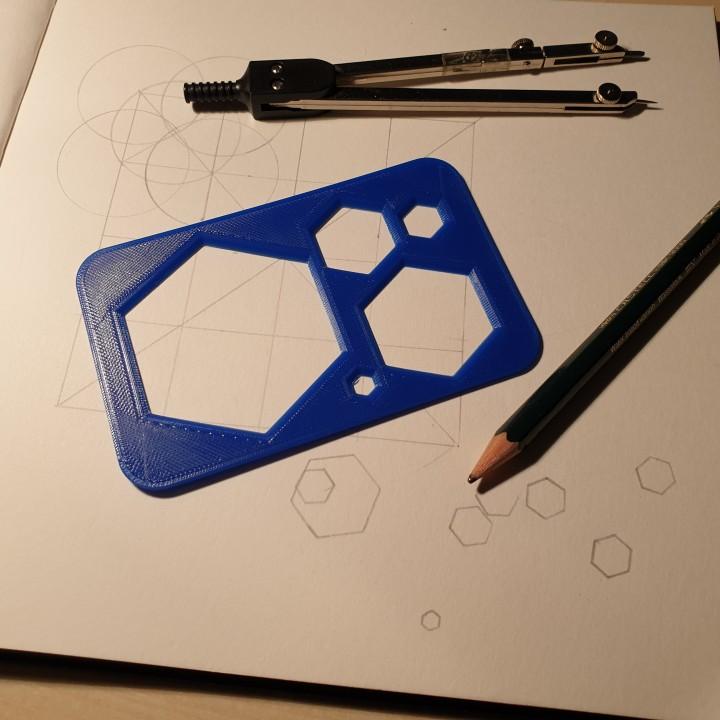 Hexagon Drawer Template