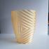 Triangle ripple vase, pot print image