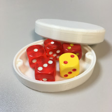 Picture of print of Oval Dice Box