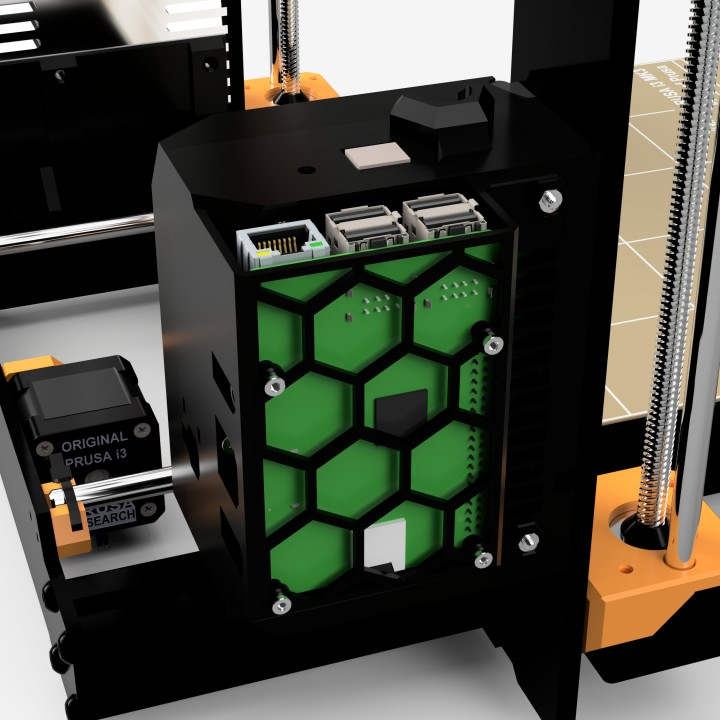 3D Printable Prusa I3 MK3 Octoprint Hardware Setup by Drew Pang