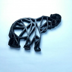 Picture of print of elephant geometrie