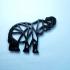 elephant geometrie print image
