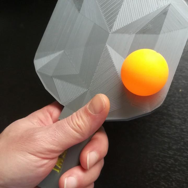 Effect table tennis racket