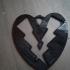 Heart Lightning Bolt Key Chain Large Charm image