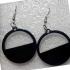 Half Filled Hoop Earrings image