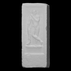 Funerary stele with a relief
