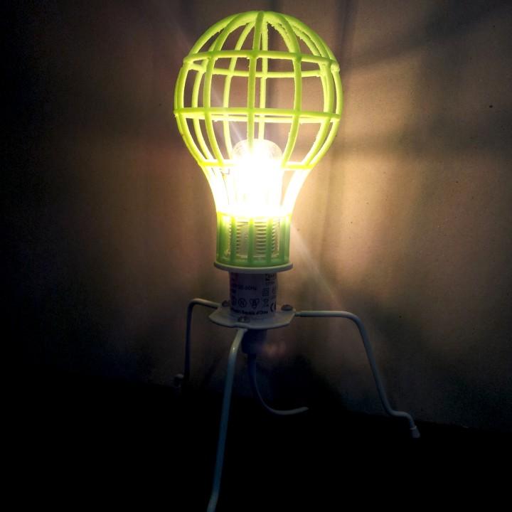 Lightbulb Mesh Lampshade