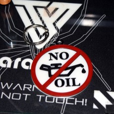 No Oil  Keychain Tag