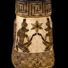 Egyptian Pyramid Flower Vase