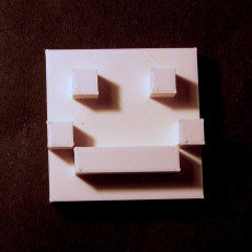 Picture of print of Pixilated Smiley Face
