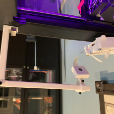 Picture of print of adjustable cr10 cr10s x motor raspberry camera mount (z growing timelapse effect)