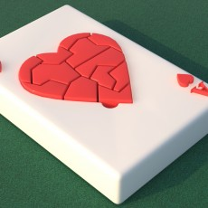 Poker Ace of hearts card Puzzle