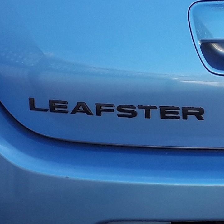 Nissan Leaf logo extension to LEAFSTER