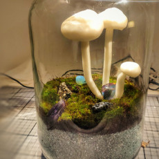Picture of print of Glowing Mushrooms