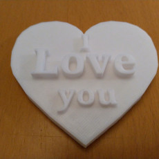 Picture of print of I Love you Heart
