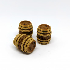 Wooden Rope Barrel for Gloomhaven