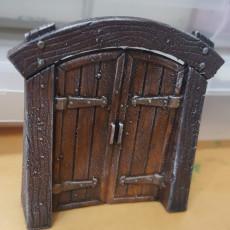 Picture of print of Wood Dungeon Door - Hinged, Open/Closed, & Slide In